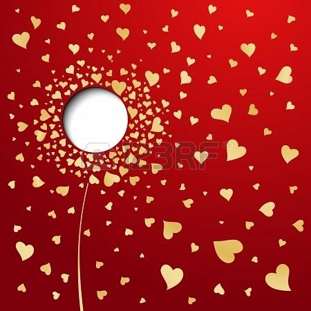 16674490 goldene herzen auf rotem hintergrund abstract flower - Transforma lo invisible en visible